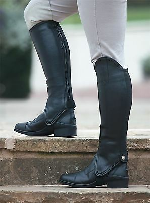 Childs Synthetic Gaiter Horse Riding Clothing Leg Trouser Protection