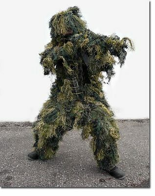 Tarnanzug Ghillie Suit antifire woodland,Paintball-NEU-