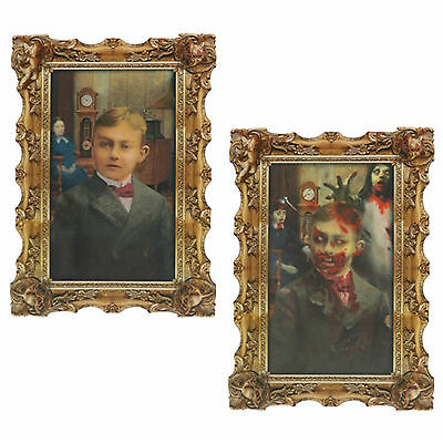 Halloween Gothic Portrait Rotting Zombie Man Lenticular Wall Party Decoration