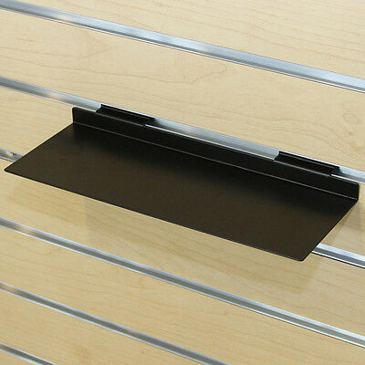 Slatwall Slat Shoes Display Metal Shelf Retail Store Fixture Black Lot of 10 NEW