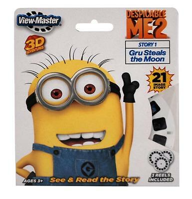 DESPICABLE ME 2-GRU STEALS THE MOON minions 3 Reels for ViewMaster 3D Viewer NIP