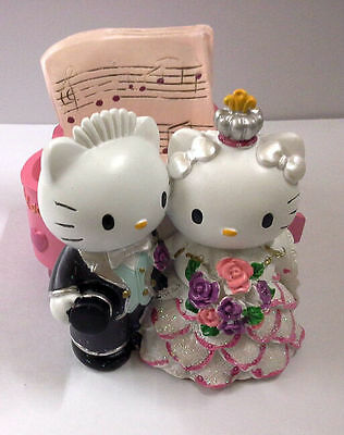 Dear Daniel & Hello Kitty Resin PIANO SHAPE Multiple Use Container WEDDING GIFT