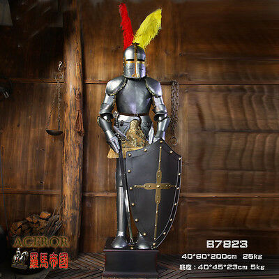 Hand-Made Iron European Crusader Suit of Collectibles Armor Medieval Knight 6.5'