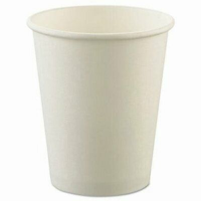 Solo Cup Company Uncoated Paper Cups, 8oz, Hot, White (SCCU508NU)