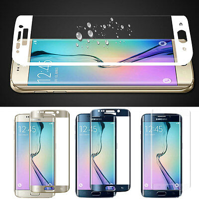 Genuine FULL COVER Tempered Glass Screen Protection For Samsung Galaxy S6 EDGE