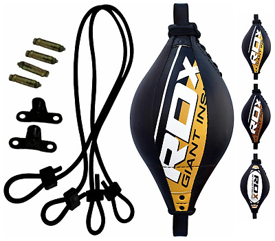 RDX Leather Double End Dodge Speed Ball MMA Boxing Floor to Ceiling Punch Bag HW
