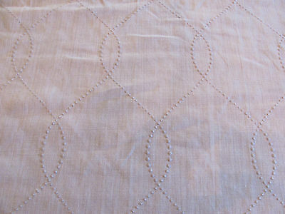 "Beautiful Romo Embroidered Fabric ""OGEE BIRCH"" in Natural 6 Yards"