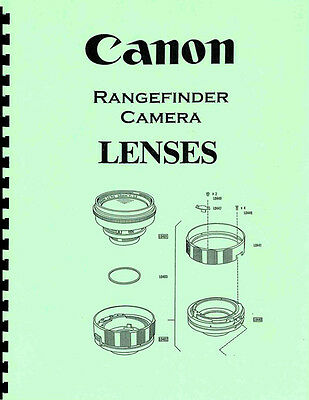 Canon Rangefinder Lenses Exploded Views with Parts Numbers