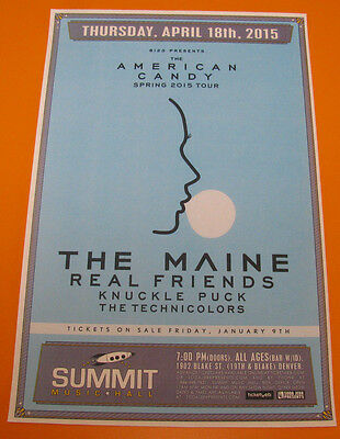 The MAINE American Candy Tour 2015 Summit - Denver 11x17 Show Flyer / Gig Poster