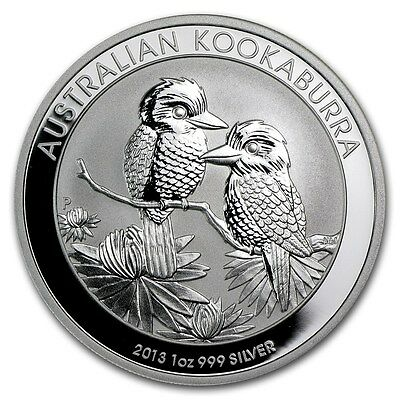 4 X 2013 Australia Kookaburra 1 oz .999 Silver Coin in air-tight capsule