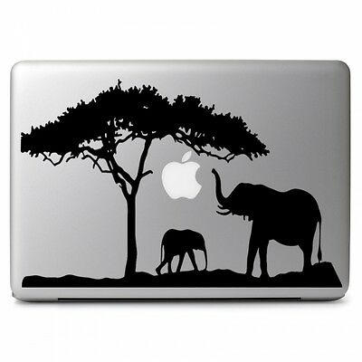 "African Safari Elephant for Apple Macbook Air Pro 13 15 17"" Laptop Decal Sticker"