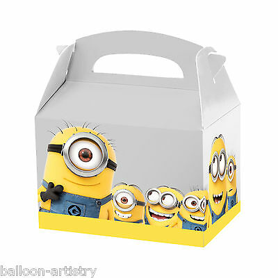 4 Official MINIONS Movie Children's Party Card Paper Loot Gift Favour Boxes