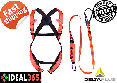 Delta Plus ELARA190 Safety Fall Arrest Harness Scaffold Kit Lanyard Karabiner