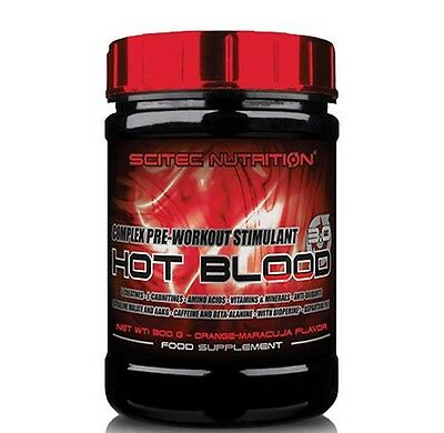 HOT BLOOD 3.0 300gr SCITEC NUTRITION OXIDO NITRICO PRE-WORKOUT BLUE GUARANA