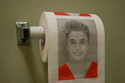 Justin Bieber Toilet Paper Funny Gag Gift 2 Ply Roll Love Hate New Free Shipping