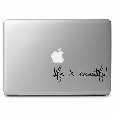 "Life Is Beautiful for Macbook Air Pro 11 12 13 15 17"" Laptop Vinyl Decal Sticker"