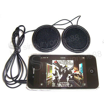 UK Motorcycle Bike Scooter Helmet Sports Stereo Headphones Headset For MP3 Phone
