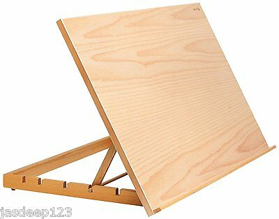 A2 Reeves Easel Workstation Art Drawing Board Craft Wooden Supplies Table Brown