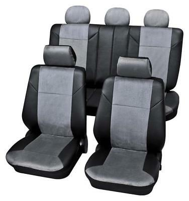Dark Grey Luxury Car Seat Covers - For Vauxhall Vectra C 2002 Onwards