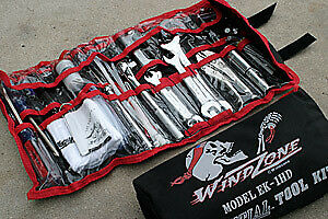 Windzone Full Size Essential Tool Kit 34pc for Harley Davidson V-Twin