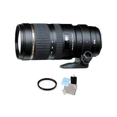 Tamron SP 70-200mm Di VC USD Zoom Lens for Canon + UV Filter & Cleaning Kit
