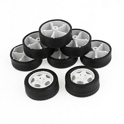Children Toy Car Bus Truck 34mm Dia Rubber Roll Wheels Replacement 8PCS