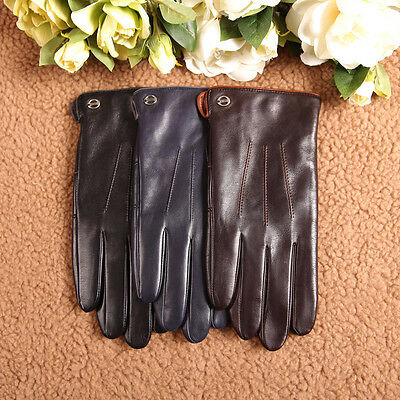 ELMA Men's LAMBSKIN Leather Gloves FOR SMART PHONES/CASHMERE LINED