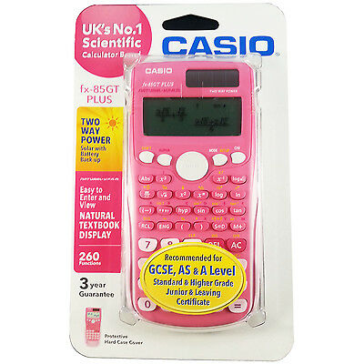 Casio Scientific Calculator FX-85GT Plus Pink Colour Free Delivery