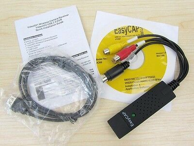 Device USB2.0 Plug-and-Play Analog Audio Video to Digital PC Capture EasyCap