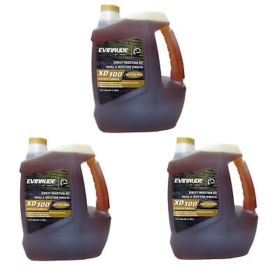 Johnson/Evinrude XD100 Synthetic Outboard ETec Oil CASE 3 Gallons 764357 0764357
