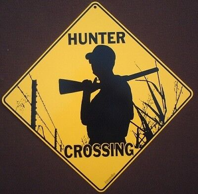 HUNTER  CROSSING Sign aluminum silhoutte picture horses decor novelty home