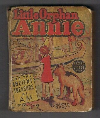 LITTLE ORPHAN ANNIE and the ANCIENT TREASURE of AM #1414 BIG LITTLE BOOK - 1939
