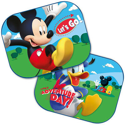 Disney Mickey Mouse Clubhouse Car Window Sun Shades Pair for Kids Baby Children~