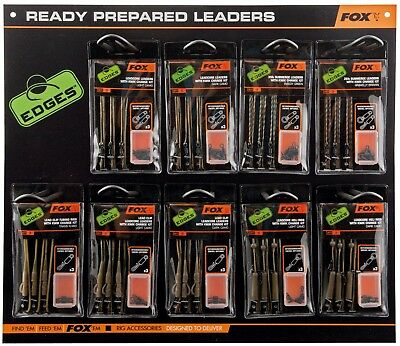 Fox Edges Ready Tied Leadcore Lead Clip Leaders / Rigs / Heli - All The Types