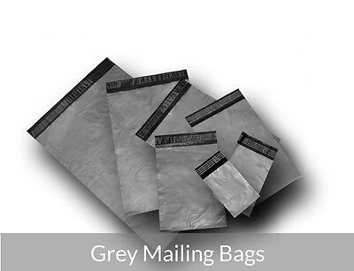 Strong Grey Plastic Self Seal Mailing Postal Post Bags - All Sizes Best Price