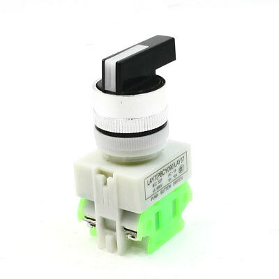 Panel Mounted 2 Position Selector Rotating Button Switch 660VAC 10A SPST