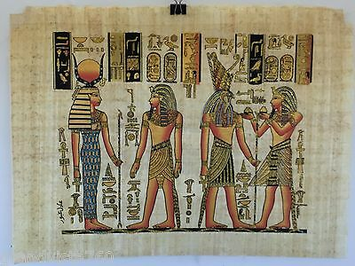 """NEW HAND PAINTED EGYPTIAN PAINTING ON PAPYRUS 12""""x16"""" A53"""