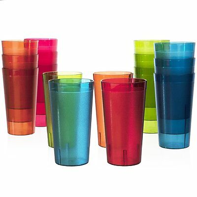 16 pc Break-Resistant Commercial-Grade 20oz Restaurant-Quality Beverage Tumblers