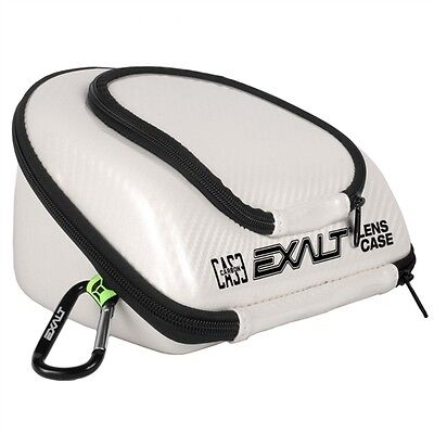 New Exalt Paintball Carbon Series Lens Case - Limited Edition White