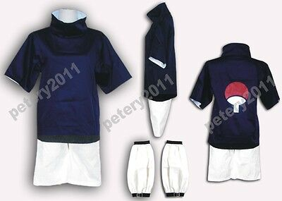 Naruto Sasuke Uchiha Costumes 1st Halloween Christmas Cosplay Dress Costume