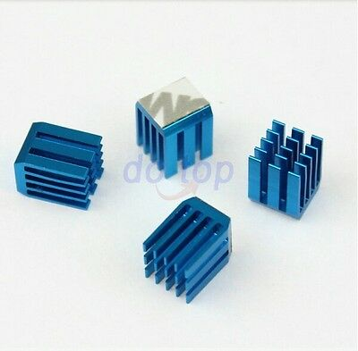 20pcs Lot Blue 9mm x9 x12mm Aluminum Heat sink adhesive Tape IC Chipest Cooling