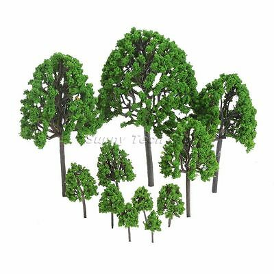 Assorted 11Pcs Tree Model Train Park Railway Diorama Scenery Layout Scale Scene