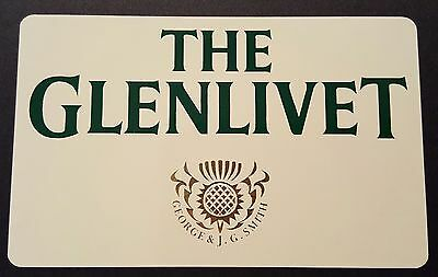 The Glenlivet scotch whisky sticker / decal