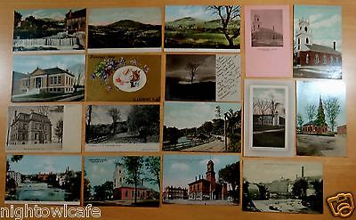 Lot of 17 Antique Postcards ALL CLAREMONT, NH New Hampshire 5 UDB 1 RPPC