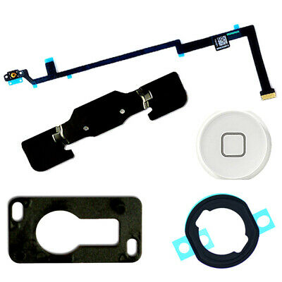 White Home Button Camera Bracket Flex Cable Adhesive Replacement for iPad Air 5