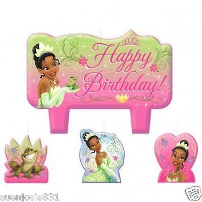Disney Princess and the Frog Birthday Candles 4pcs Cake Cupcake Toppers