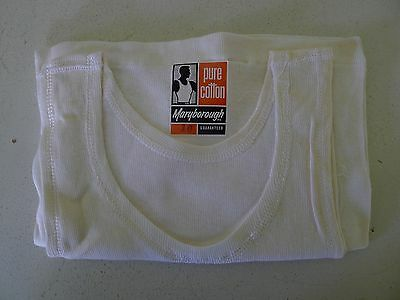 Vintage 50s authentic unused boys 8 - 10 yo singlet  underwear cotton NOS tags
