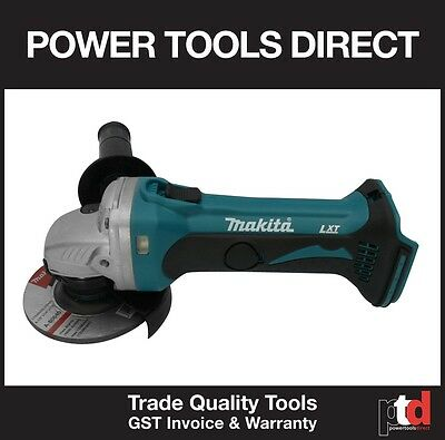 New Makita 18V Angle Grinder Cordless Dga452Z 115Mm Skin - Gen Aust Stock