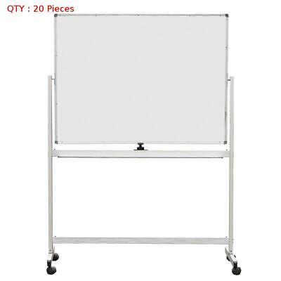 20 X New 900X1200Mm Double Sided Magnetic Whiteboard With Aluminum Stand E0
