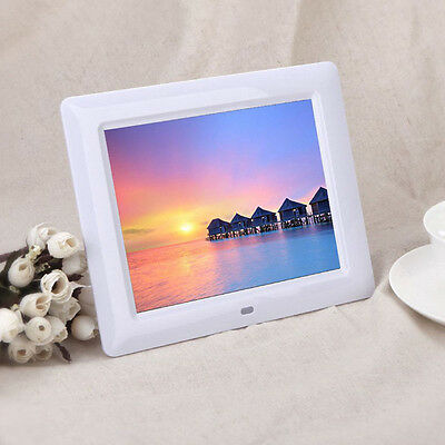 7' TFT-LCD Digital Photo Frame with Alarm Clock Calendar Slideshow MP3/4 Player